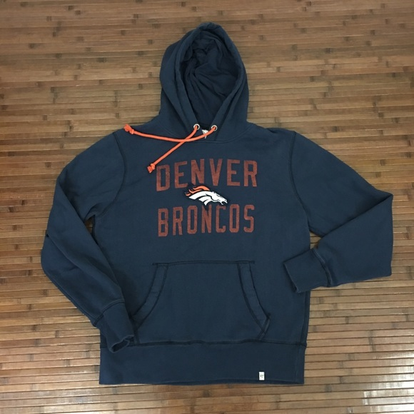 Discount 47 Brand Shirts | Mens Denver Broncos Pullover Hoodie | Poshmark